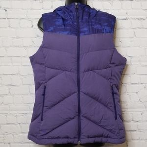 The North Face hooded goose down vest